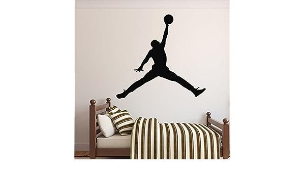 Adhesivo decorativo para pared de Michael Jordan – Balón de ...