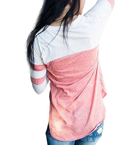 Rcool Frauen Tops V Neck Pullover Langarm Kapuzenpullover Sweatshirts T-shirt aus Baumwolle Mischung Hoodies Bluse lässig