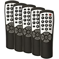5-pack Brightstar® BR100B Universal TV Remote