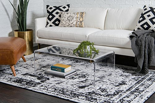 Unique Loom Sofia Collection Black Area Rug (8' x 10')