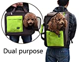 PUPTECK Dual Purpose Soft dog Travel Carrier BackPack Green Review