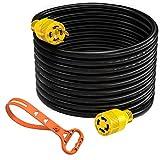 Kohree Generator Power Cord 20ft 30Amp, 10 Gauge Heavy Duty 4 Prong Generator Locking Power Cord L14-30 125/250V 30Amp 7500 Watts(with Cord Organizer)