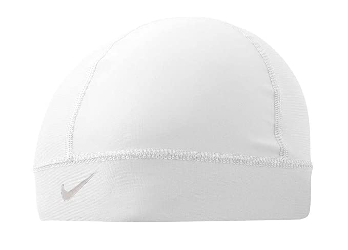 47a14590 Amazon.com: Nike Pro Combat Skull Cap (Black/White, Osfm): Sports & Outdoors