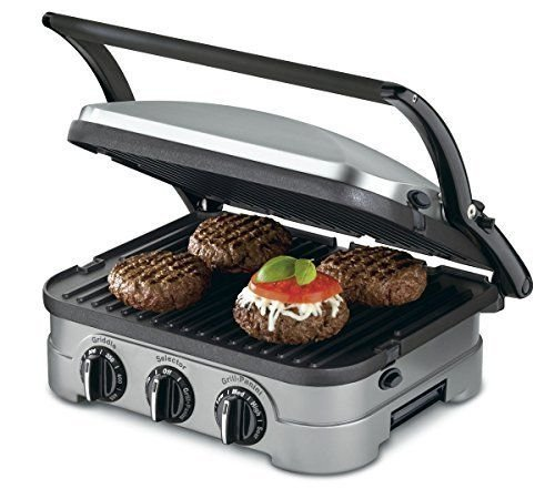 cuisinart-grid-8nfr-5-in-1-griddle-contact-counter-top-grill-panini-press-silver