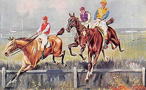 Misc Artist Signed Horse Racing Postcard 1913