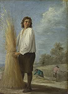 Oil painting 'David Teniers the Younger Summer ' printing on high quality polyster Canvas , 16 x 22 inch / 41 x 56 cm ,the best Foyer gallery art and Home artwork and Gifts is this Replica Art DecorativeCanvas Prints