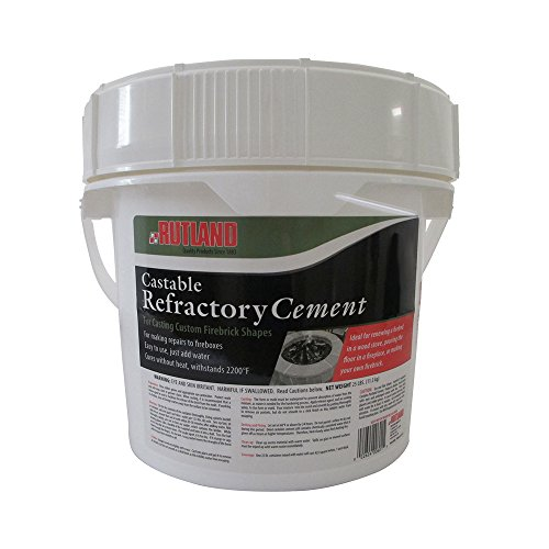 (Rutland Products 601 Rutland Castable Refractory Cement, 25-Pound)