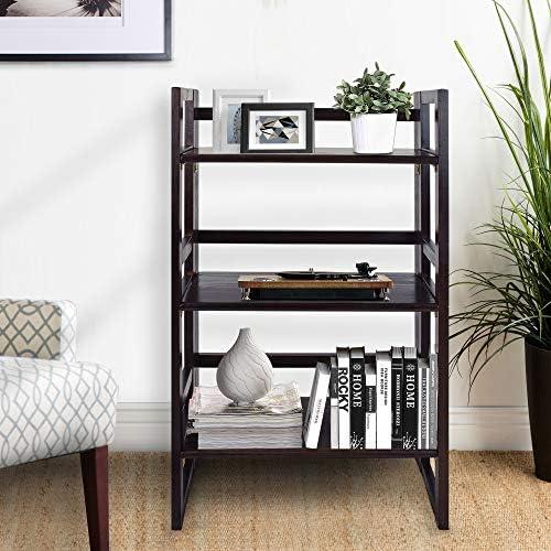 Casual Home 3-Shelf Student 20.75″ Wide Folding Bookcase - a good cheap modern bookcase