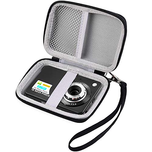 Carrying & Protective Case for Digital Camera, AbergBest 21 Mega Pixels 2.7″ LCD Rechargeable HD/Canon PowerShot ELPH 180/190 / Sony DSCW800 / DSCW830 Cameras for Travel by COMECASE