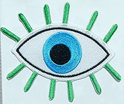 Eye Iron on Patch Embroidered Sewing for T-shirt, Hat, Jean ,Jacket, Backpacks, Clothing
