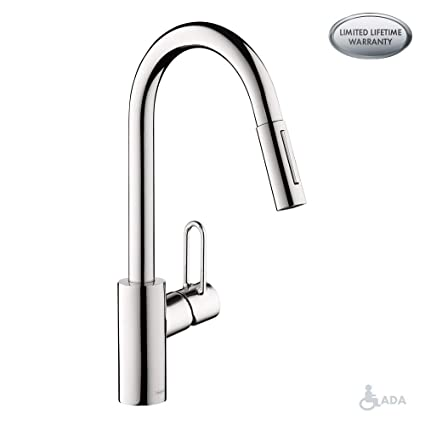 hansgrohe 04701005 talis loop kitchen faucet 16 1 height chrome rh amazon com hansgrohe focus kitchen faucet reviews hansgrohe talis kitchen mixer