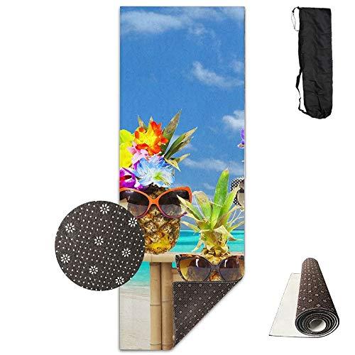 Pineapple Cheerleaders Deluxe,Yoga Mat Aerobic Exercise Pilates Anti-Slip Gymnastics Mats