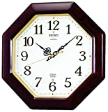 SEIKO CLOCK ( Seiko clock ) radio wall clock twin -Pas chime u0026 Strike wooden frame Brown RX210B