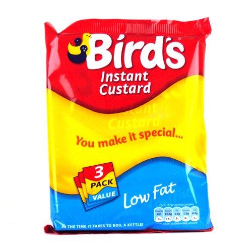 Bird Low Fat Food - Birds Instant Custard Low Fat Triple Pack 225g