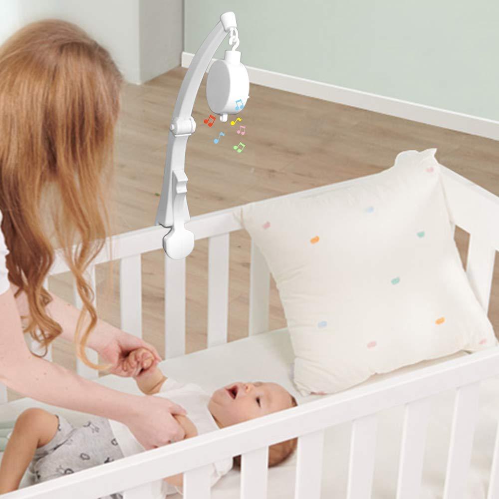 Notenhalter mit Halterung f/ür Mutter Mobile mit Spieluhr Schraube Baby-Kinderchen AFUNTA Mobile Arm f/ür Babybett