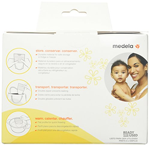 Large Product Image of Medela, Breast Milk Storage Bags, Ready to Use, Milk Storage Bags for Breastfeeding, Self-Standing Bag, Space-Saving Flat Profile, Hygienically Pre-Sealed, 6 oz. Capacity, 100 Count