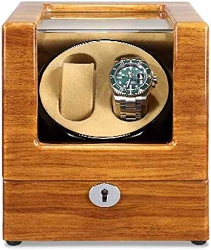 Boxs巻ギフトウォッチワインダーウォッチワインダー、自動超静音ミニシングルヘッド2 + 0家庭用ポータブル回してモーターボックスターンテーブル装置