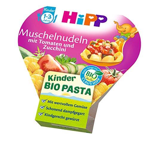 HiPP Muschelnudeln mit Tomaten und Zucchini Bio, 6er Pack (6 x 250 g) 421628 Kinder-Bio-Pasta 250 g Mittagsmahlzeit