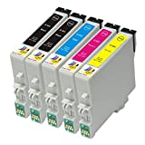 Ink & Toner Geek ® - 5 Pack Remanufactured Replacement Inkjet Cartridges for Epson T060 60 #60 (T060120, T060220, T060320, T060420) For Use With Epson Stylus C68 Stylus C88 Stylus C88Plus Stylus CX3800 Stylus CX3810 Stylus CX4200 Stylus CX4800