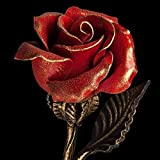Hand Forged Iron Rose - Wedding Anniversary Gift for Her/Red Metal Rose Steel Rose