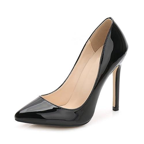 OCHENTA Zapatos de Tacón de Aguja punta Cerrada Diseño Elegante moda para Fiesta y Boda