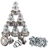 XiKe 8 Pack Stem Rocker Assembly Bearing 1-1/8'' OD, Glider and Rocker Hardware, Furniture and Miscellaneous, With Mounting Hardware Bearing, Replace 124094.