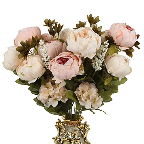 Money coming shop Artificial Flowers Silk flower European Fall Vivid Peony Fake Leaf Wedding Home Party - Kenzo Glasses