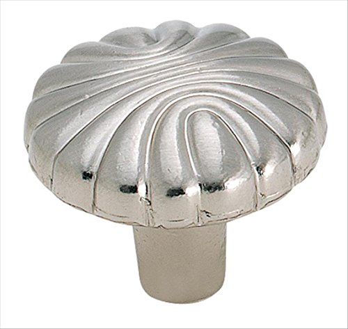 Amerock BP1337-G9 Natural Elegant Shell 1-7/32-Inch Diameter Knob, Sterling Nickel