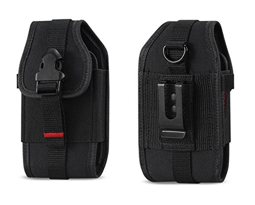 Rugged Case Durable Pouch Cover Holster Metal Clip with Belt Loop for Samsung Rugby 2 / 3 / 4 / Convoy 4 / Kyocera Cadence / DuraXV / DuraXA / Pantech Breeze 4 / LG Cosmos 2 / 3 / Casio GzOne Ravine 2