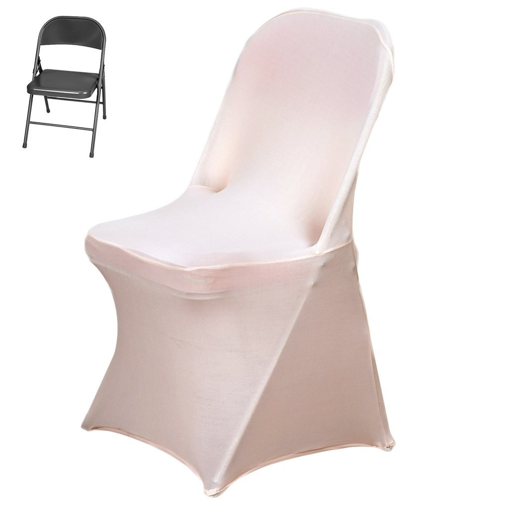 Amazon.com: Efavormart 10PCS Stretchy Spandex Fitted Folding Chair Cover Dinning Event Slipcover for Wedding Party Banquet Catering - Blush: Home & Kitchen