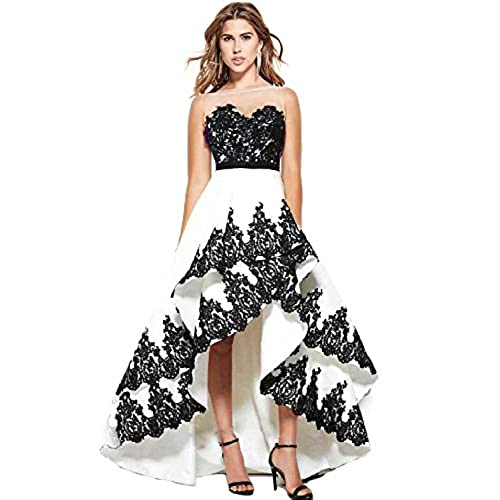 Black and White Gowns Formal Dress: Amazon.com