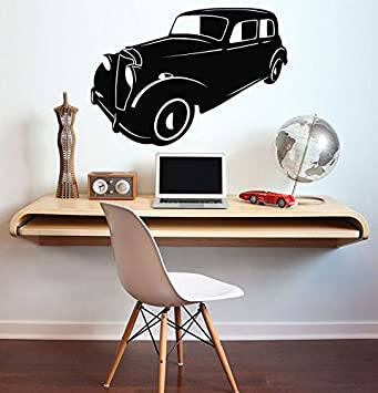 Art Vintage Car Vinyl Decal Vintage Car Wall Sticker Home ...