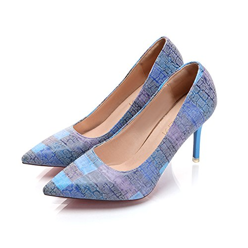 High Shoes Colored Heeled Candy blue 18YUq7Pqw