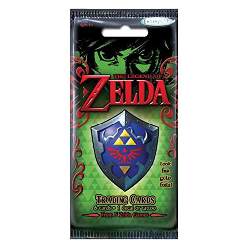 Enterplay - The Legend of Zelda Trading Cards - PACK (6 Cards & 1 Sticker or Tattoo) (1 And Sticker Cards)