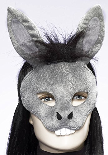 Horse Nose Costume (Forum Novelties Men's Plush Donkey Mask, Gray, One Size)
