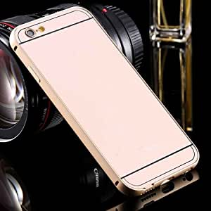 For Iphone6 Hard Case Luxury Gold Metal Aluminum +Acrylic Hybrid Back Cover Case For Iphone 6 4.7Inch Phone Accessory Gold-Gold