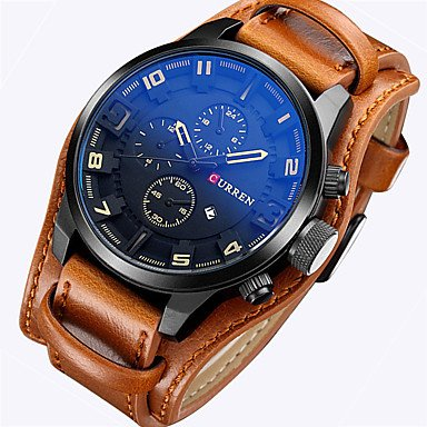 Fashion Watches watchbands relogio Masculino Character Design Leather Watch Strap European Style Military Waterproof Watch (