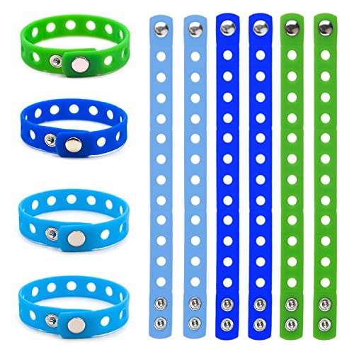 (GOGO 10 PCS Kids' Rubber Bracelet, Adjustable Wristband Fit Shoe Jibbitz Crocs Charms)