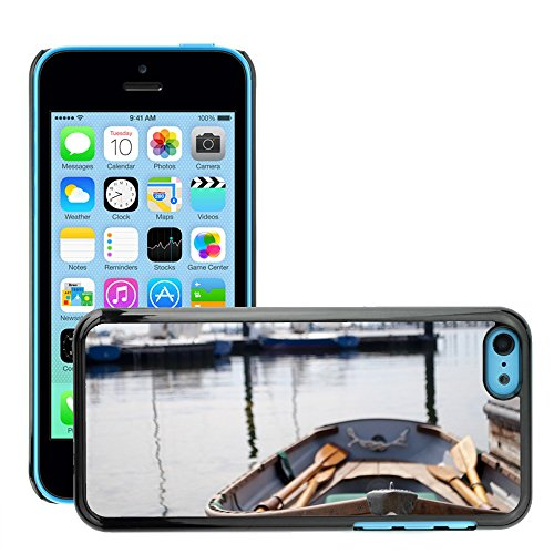 Stampato Modelli Hard plastica Custodie indietro Case Cover pelle protettiva Per // M00421762 Eau chaloupe Pagaies Bateau Sea Row // Apple iPhone 5C