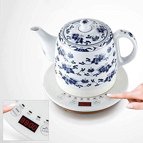 HLJ Bouilloire électrique en céramique commande intelligente porcelaine bleue et blanche Jug rapide for l'eau furoncles thé café soupe flocons d'avoine 1L