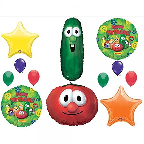 VEGGIE TALES LARRY CUCUMBER & BOB TOMATOE BIRTHDAY PARTY Balloons Decorations Supplies