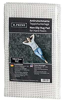 B.PRIME Non-Slip Area Rug Pad for Hard Floors I Anti-slip mat I Carpet mat I Rug underlay I Carpet underlay I Anti-slip protection for carpets