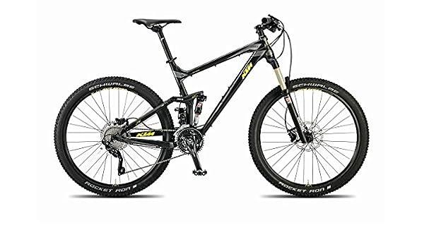 KTM Lycan 274 Mountainbike, 2015, negro mate amarillo, RH 43, 13,70kg: Amazon.es: Deportes y aire libre