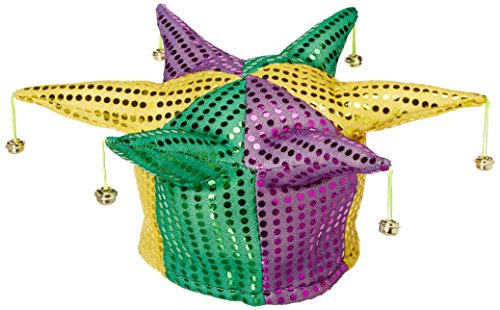 Glitz 'N Gleam Jester Hat (w/bells) Party Accessory  (1 count) ()