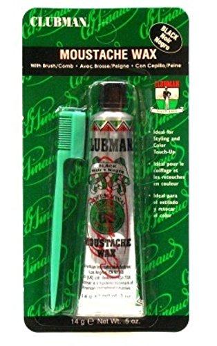 Clubman Moustache Wax Black 0.50 Oz (Pack of 2)