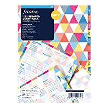 Filofax 2017 Week on Two Pages Illustrated Geometric Office Calendar Refill, A5 Size (C6352-2017)