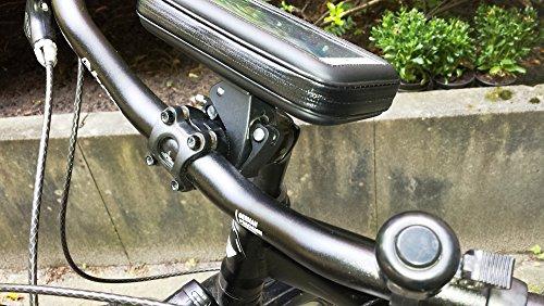 LKB29M - Supporto da bicicletta, impermeabile e universale, per smartphone/navigatore (4,7 - 5 / 12,7 cm), per Apple iPhone 6, Samsung Galaxy Alpha, HTC One, LG G2 Mini, Sony Xperia M2, Motorola Mot