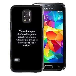 Red-Dwarf Colour Printing Inspirational Motivational Text Black - cáscara Funda Case Caso de plástico para Samsung Galaxy S5 Mini, SM-G800, NOT S5 REGULAR!