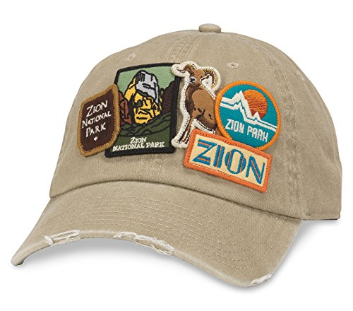 (Zion National Park Iconic Distressed Slouch Adjustable Hat)