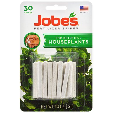 Jobe's Indoor Beautiful Houseplants Fertilizer Food Spikes – 30 Pack